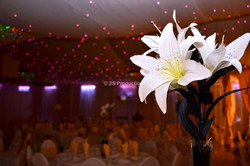 Wedding venue ambience and floral décor