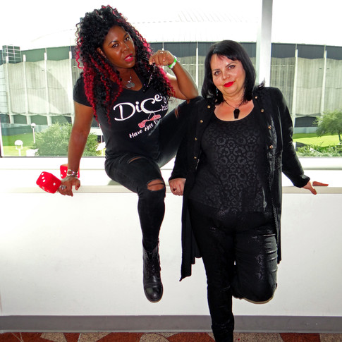 Podcasters Dicey Grenor & Chantell Renee of The Sex & Horror Podcast