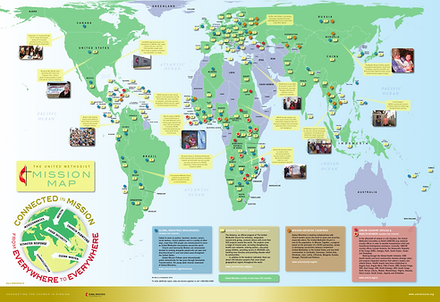 Map of UMC Global Ministries efforts