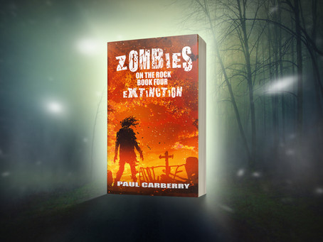 Cover reveal: Zombies on the Rock -- Extinction