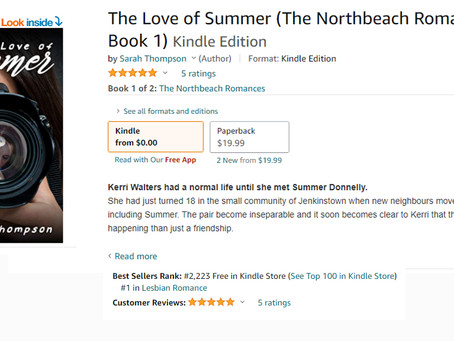 THE LOVE OF SUMMER BY SARAH THOMPSON BECOMES #1 BESTSELLER ON AMAZON!