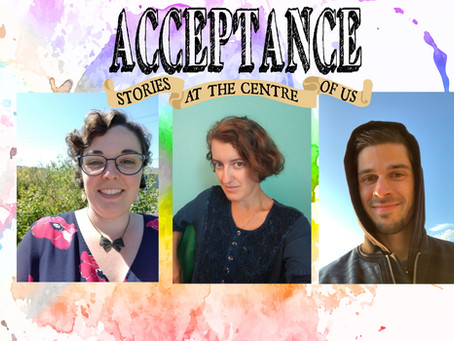 Announcing Bronwynn Erskine, Isobel Granby, and, Will J Fawley in 'ACCEPTANCE.