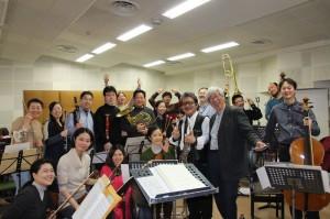 今週末2月21日(金)アンサンブル東風第15回定期演奏会のリハをしました!