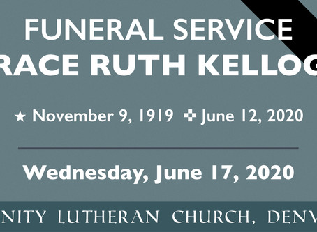 Funeral Service for Grace Ruth Kellogg
