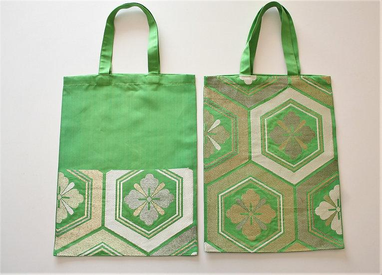 帯のぺたんこバッグ(絹) Silk Obi Bag