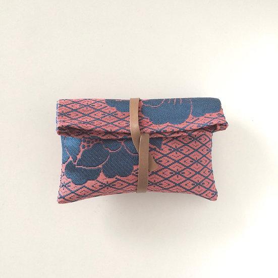 【博多織】帯のくるっとケース(花) Upcycled Obi Purse (Flower)