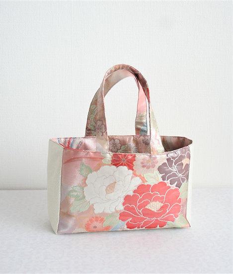 帯のミニバッグ(鳳凰) Upcycled Obi mini-bag (Phoenix)