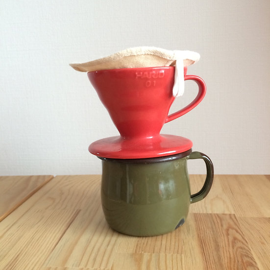 ヘンプネルのコーヒーフィルタ Hemp-Organic Cotton Coffee Filter