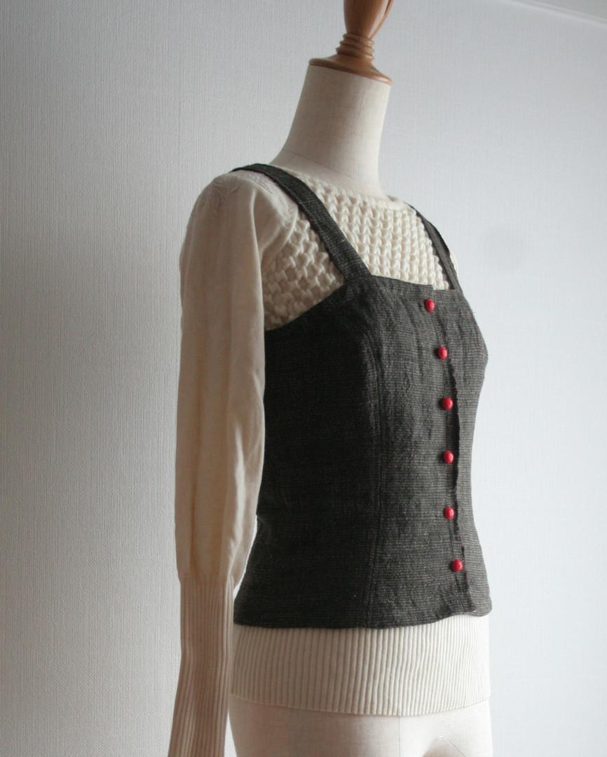 はぎれベスト Vest made from leftover fabric