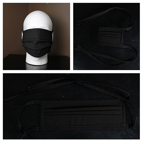 Face Mask Black Solid