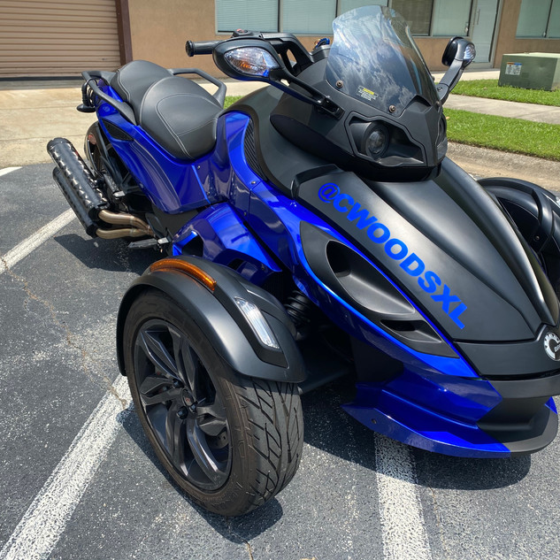 Can-Am Spyder Black and Blue