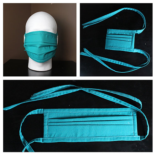 Face Mask Teal Solid