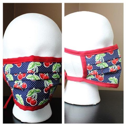 Face Mask Cherries Print