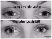 Promo price $95 Keratin Lash Lift with T