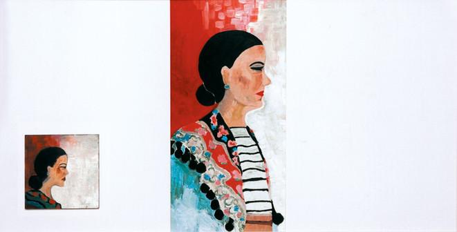 אישה עם צעיף, 2003