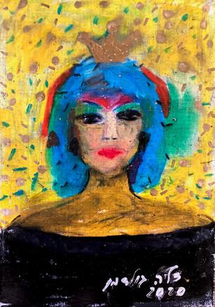 אלמונית עם שיער כחול, 2020