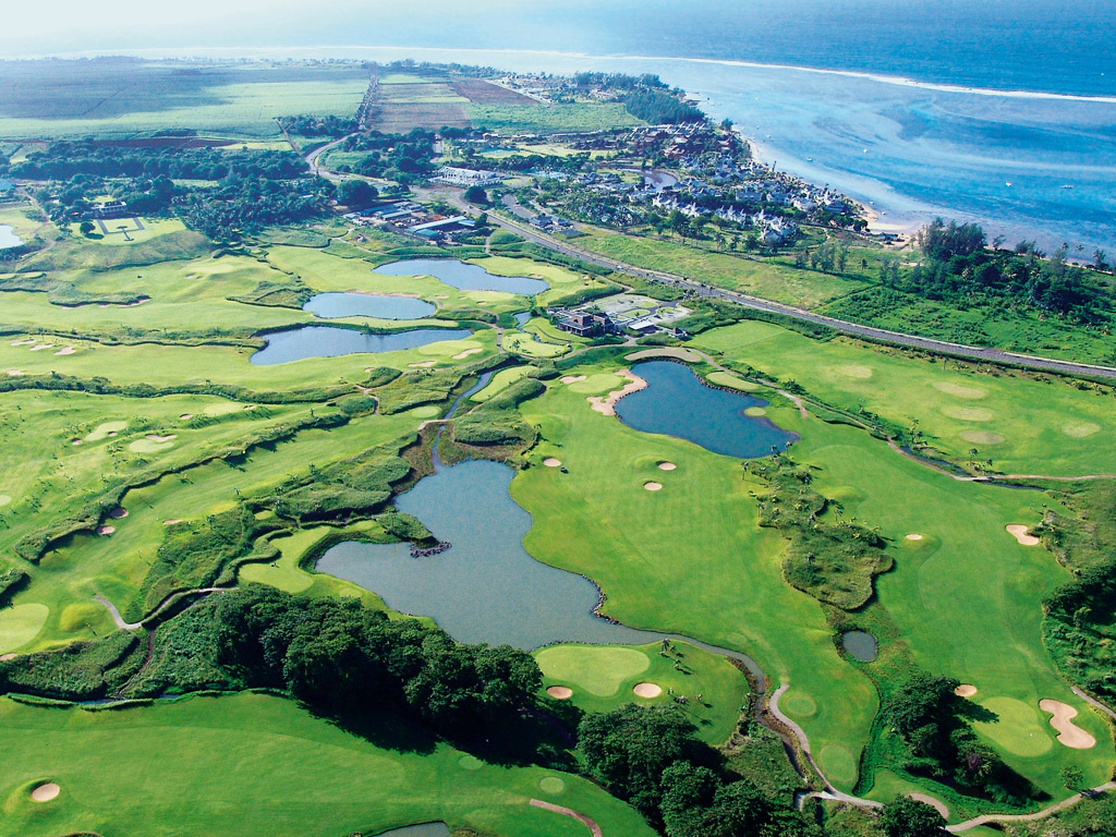 Panoramic view golf Mauritius