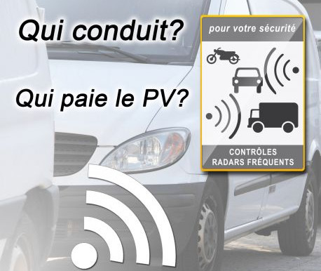 QUI CONDUIT, QUI PAYE LE PV ? IDENTIFICATION CONDUCTEUR