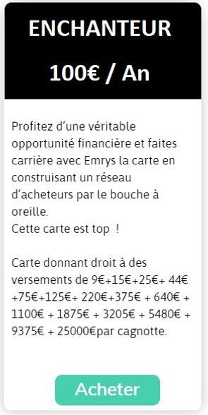 Licence Enchanteur Emrys La Carte
