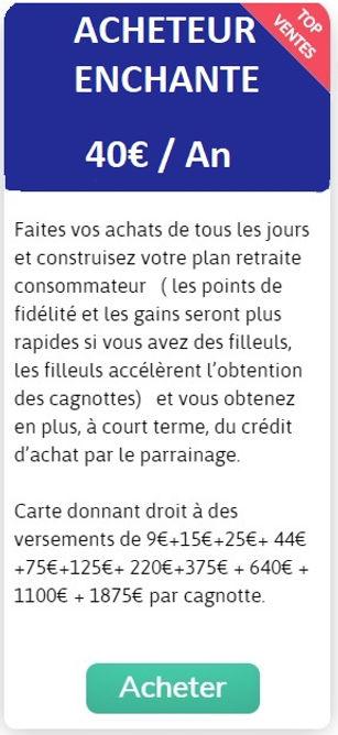 licence ACHETEUR ENCHANTE Emrys la Carte