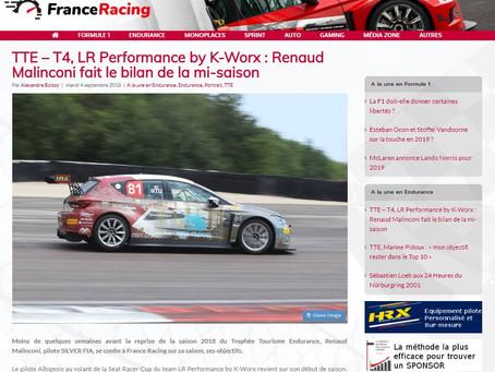 Bilan à mi-saison de Renaud sur France Racing