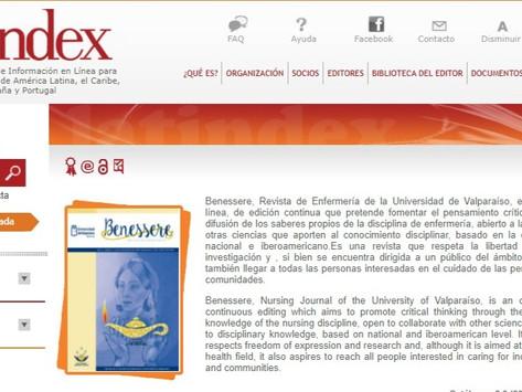 Benessere, Revista de Enfermería indexada en Latindex - Universidad de Valparaíso