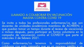 Llamado a colaborar en vacunación masiva contra COVID-19