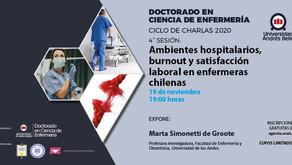 Sesión 4: Ambientes hospitalarios, burnout y satisfacción laboral en enfermeras chilenas