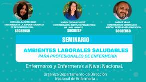 Seminario Ambientes Laborales Saludables para profesionales de Enfermería