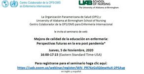 Mejora de la calidad en la educación en enfermería: perspectivas futuras en la era post pandemia