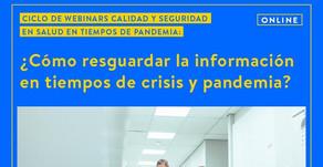 Seminario: ¿Cómo resguardar la información en tiempos de crisis y pandemia? - Enfermería UDP