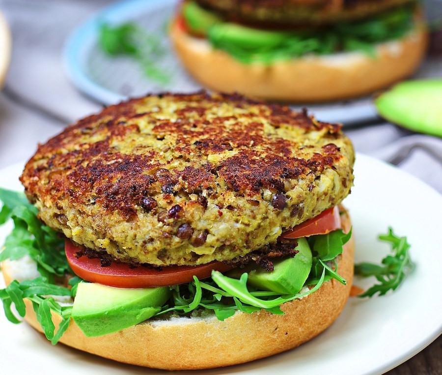 Burger végétarien, recette d'Alexandra Baechler, diététicienne golfe de saint-tropez, cogolin