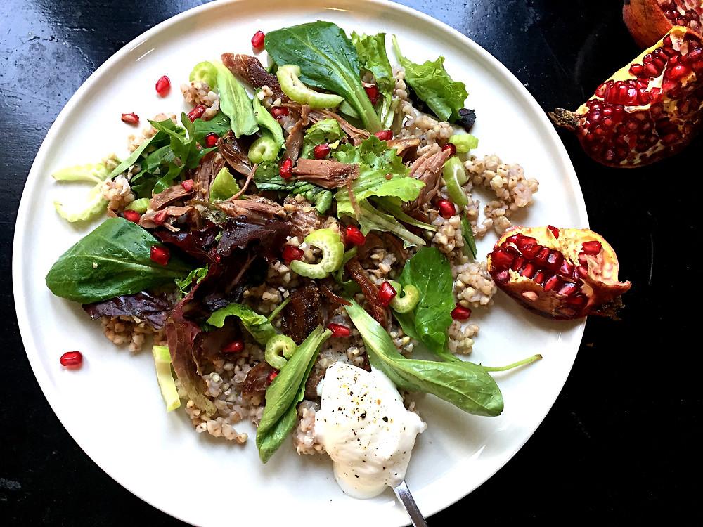 salade diététique sarrasin, canard, diététicienne nutritionniste golfe de saint-tropez, cogolin