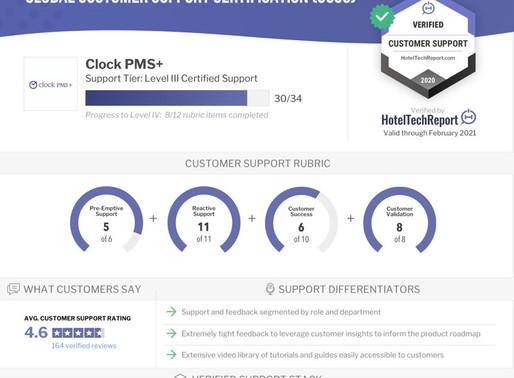 Clock PMS+ ottiene la certificazione di supporto globale di livello III