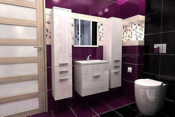 Badezimmer Set 5-Teilig - ''Loretto B Gloss''