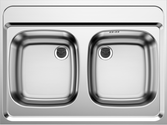 80cm Blanco Standspüle Z 8x6 CNS Doppelbecken