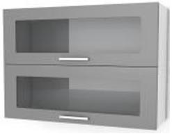 Oberschrank mit zwei Glasklapptüren