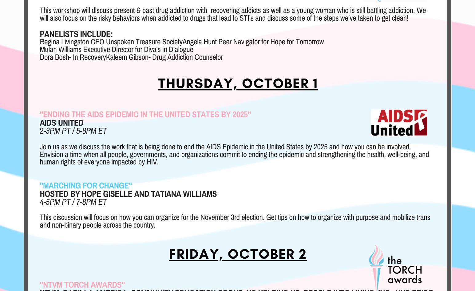2020 NTVM Schedule