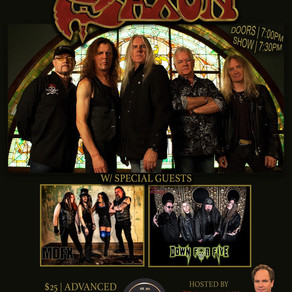 Saxon is Coming to Tulsa!  With Special Guests Down for Five and MDFX, Hosted by Eddie Trunk
