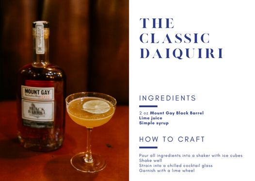 Mount Gay Specialty Cocktail - The Classic Daiquiri