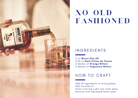 Mount Gay Specialty Cocktail - XO Old Fashioned