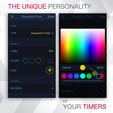 User-Created Colour Palette