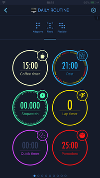 Layout options for timers arrangement