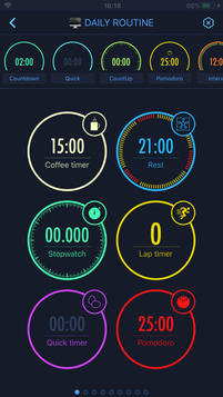 A set of timers