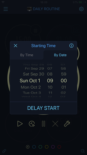 Settings of a startup time function