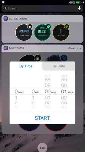 Fully interactive MultiTimer widget