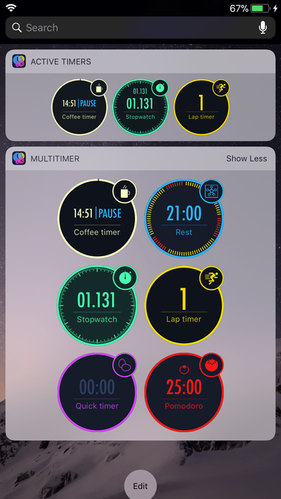 Notification Center Today Widgets