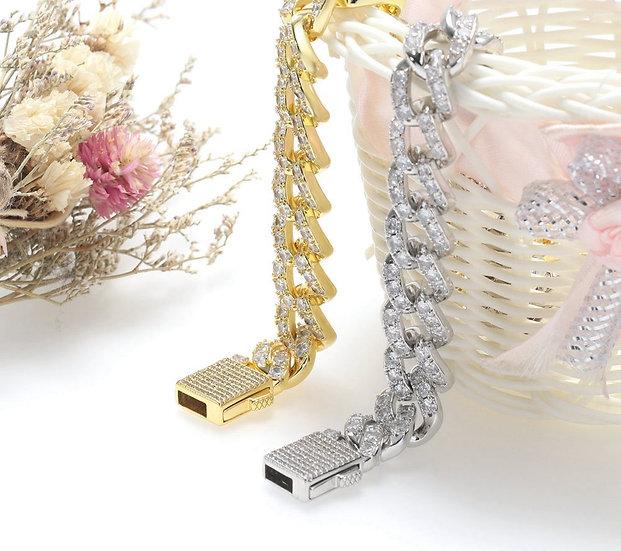 18cm Diamond Link Bracelet