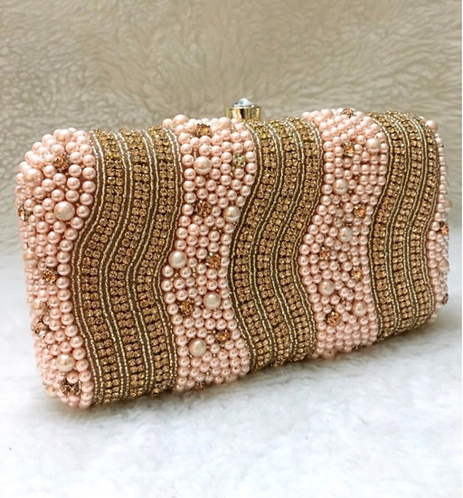 light Pink Beaded Purse