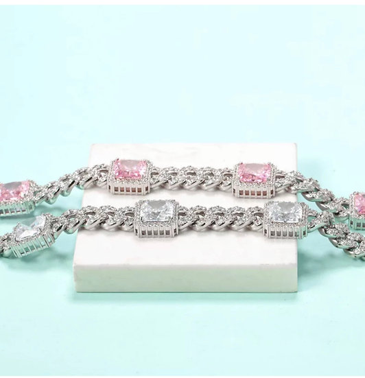 18cm Cuban Diamond Bracelet